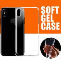 Ultra dünner klarer Gel TPU Fall transparente weiche Silikon-Abdeckung für iPhone XS maximales XR X 8 7 6 plus Samsung-Galaxie-Anmerkung 9 S9 S8 J2 J4 J6 C5 C7