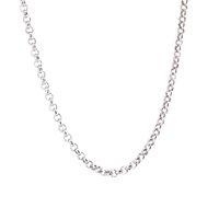 """50pcs rolo chaîne 20 """"24 '' 30"""" 316L en acier inoxydable 2.5mm largeur chaîne de collier pour les femmes hommes pendentif"""