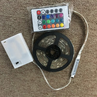 1M 2M 3AA 배터리 작동 LED 스트립 라이트 방수 휴대용 LED 스트립 리본 유연한 테이프 네온 TV 백 램프 가정용 파티 장식