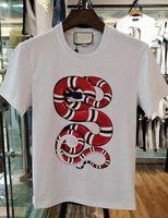 T-shirt da uomo Tops Tees King Snake Stampa Fitness Hip Hop Uomo Casuppato di cotone Tshirts Homme Camisetas T Shirt Abbigliamento da marca