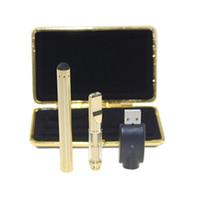 Золотой стеклянный картридж сенсорный тесто комплект испаритель bud touch 280mAh батареи O pen картридж распылитель пара воск толстый масляный бак e cigs vape