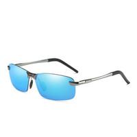 Alluminio Uomo Occhiali da sole Sport Occhiali da sole polarizzati Guida Occhiali Accessori per uomo oculos de sol masculino