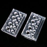 1Pcs acrilico Tattoo Cup Holder Kit Clear Clear Pigmento Stand per trucco permanente Accessori Forniture IA318