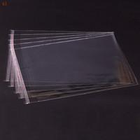 Saco do presente Embalagem 200 pcs Limpar Resealable Bopp / poli / Sacos de Celofane 18x27 cm Transparente Opp Auto Adesivo De Armazenamento De Plástico Embalagem Cosmética