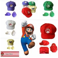 New Adult Cartoon Super Mario Hats Cosplay Fashion Costume Baseball Hats Caps Sneaker Hip Hop Berets Hat YYA253