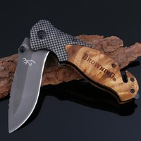 Wholesale X50 Tactical Folding Pocket Knife Steel Blade Wood...