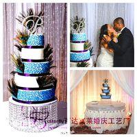 """Crystal Wedding Cake Stand 16 """"Round Chandelier Cake Cupcake Stands para la pieza central de la boda"""