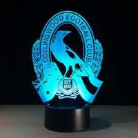 2017 collingwood Football 3D Illusion Night Lamp 3D Optical ...