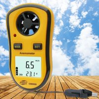 Gerçek Dijital Takometre Gm8908 El Hava Rüzgar Hızı Ölçek Ölçer Ölçer Dijital Anemometre Termometre