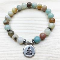 SN1027 новый дизайн Радуга амазонит браслет женщин Будда мужской браслет запястье мала исцеление браслет Низкая Цена бесплатная доставка