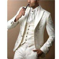Costume pour hommes à la mode costume de mariage robe de mariée broderie  convenir au meilleur 3ce76dd5ecd