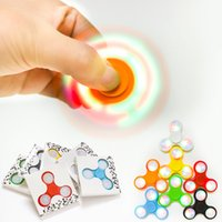 LED Light Up Hand Spinners Fidget Spinner Top Quality Triang...