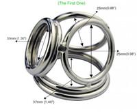 Новая нержавеющая сталь четыре кольца петух кольцо металлический пенис кольцо мужской задержка пениса кольцо мяч носилки продукты секса для мужчин пенис