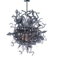 Dale Chihuly Estilo Soplado de vidrio gris de la lámpara moderna del art déco por encargo LED de la lámpara por decoración de la casa