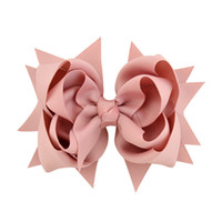10pcs 3 Layer Grosgrain Ribbon Bow Hair Clips 4 . 7 inch Larg...
