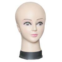 Kadın Manken Başkanı Şapka Ekran Peruk Torso PVC eğitim femal kafa modeli