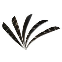 30pcs Waterdrop Shape Left Wing 4'' Turkey Feathers for Glass Fiber Bamboo Wood Archery Arrows Hunting and Shooting Shield