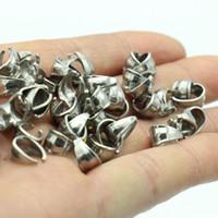 All'ingrosso della fabbrica 200 pz tono argento in acciaio inox connettore di alta qualità del pendente del gancio stampa pizzico cauzione fermaglio clip gioielli alla ricerca di fai da te