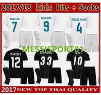 FREE SHIPPING New 2017 2018 kids Kits Real Madrid Soccer Jer...