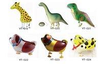 Palloncino foil di dinosauro Palloncino animale Monkey Lion Zebra Giraffa Birthday Party Decor Camminare Pet Car Palloncini a elio giocattolo per bambini