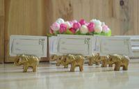 20pcs or éléphant Nom Numéro Menu Menu Table Place titulaire de la carte Clip Mariage Baby Shower Party Reception Favor