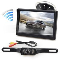 Wireless 5inch LCD Display Rear View Monitor Car Monitor IR ...