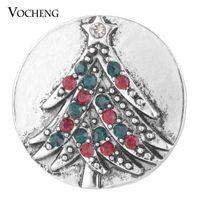 VOCHENG Нуса имбирь Оснастки ювелирные изделия праздник дерево с Кристаллом 18 мм Рождественский подарок для женщин Vn-1754