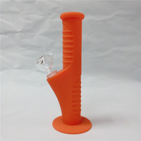 오렌지 420 미니 실리콘 물 봉 10 색상 9.5 인치 미니 실리콘 봉 수 파이프 깨지지 않는 봉 Bubbler 파이프