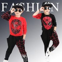 New Kids Sports Children Clothing Sets Spider Man Boys Spide...