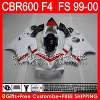 8 Hediyeler 23 Renkler Kaporta HONDA CBR 600 F4 99-00 CBR600FS FS 30HM23 parlak beyaz CBR600 F4 1999 2000 CBR 600F4 CBR600F4 99 00 Kaporta Kiti