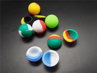 500pcs Lot Multicolor Silicone Ball Recipiente Nonsolid Cor Pure Cor antiaderente para cera BHO Vaporizador de óleo de silicone Jars Dab Cera Recipiente