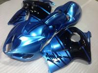 Бесплатный настроек комплект обтекателя для Suzuki GSXR1300 96 97 98 99 00 01-07 Blue Black Code Cities Набор GSXR1300 1996-2007 OT50
