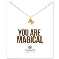 Unicorn Pegasus Подвеска Ожерелье Dogeared (вы волшебны) Короткие Женские Цепочки Ключицы Ожерелья Благородный и Нежный Колье Ювелирные Изделия