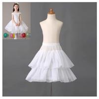 Marca nuevas muchachas enaguas de vestido de flores niña vestido formal 1 aro 2 capas blancas crinolina Accesorios Niños princesa Children enagua