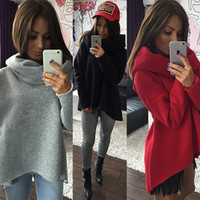 2017 Mulheres Inverno Hoodies Scarf Collar Long Sleeve Moda Casual Outono Sweatshirts Rough Pullovers Com frete grátis