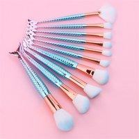 HOT Mermaid Brushes 10 PCS Mermaid Brush Sets Makeup Brushes...