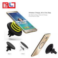 Magnetic Car mount Qi Wireless Charger for Samsung S7 S7 Edg...