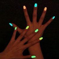 Оптовые - 10шт неоновый флуоресцентный нетоксичный лак для ногтей набор в темноте лак лакирный лак лак лак для лаки