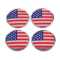 뜨거운 판매 깃발 휠 커버 자동차 로고 배지 엠 블 럼 배지 스티커 56.5mm 친밀한 Amercia 플래그 배지 스티커