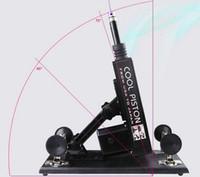 Machine de sexe automatique pour hommes et femmes avec gode, vitesses réglables rétractables aiment les machines Sex Toys Version mise à jour noir / rose