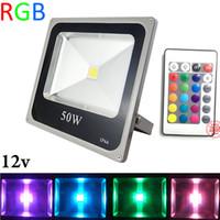 12V RGB 10W 20W 30W 50W LED 홍수 빛 방수 IP65 투광 조명 조경 옥외 점화 램프 Y / W / WW CEROHS
