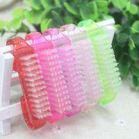 Spazzola per la pulizia delle unghie in plastica 1Pc Accessori per la cura delle unghie per la cura delle unghie Strumenti per il trucco della pedicure per manicure Strumenti per la rimozione della polvere morbida
