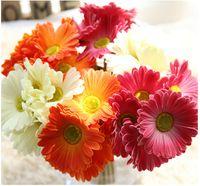 Aritificial Шелковый цветок Гербера букет для украшения дома свадьба ручной работы нарбертон букет ромашки