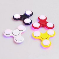 Tri- Spinner Fidget Toy Led Light Hand Finger Plastic Hand Sp...
