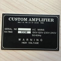Custom Engraved Plate Anodized Aluminium Stainless Steel Nam...