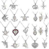 18KGP Love Wish LOCKL / GEM perline per perline gabbie ciondoli, collana di perle fai da te pendenti di fascino ciondoli 50pcs / lot