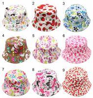 Новый 36 цветов дети цветок ведро шляпа темперамент досуг солнечный ребенок ВС шляпа для 2-6 лет дети