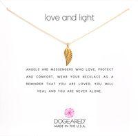 Mignon ailes Ange collier pendentif avec Écorné Carte blanche Mode Clavicule bijoux pour les femmes