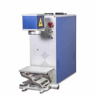 10W / 20W / 30W / 50W خيار ألياف الليزر آلة وسم للبيع طابعة ليزر معدنية