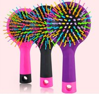 Newest Rainbow Comb Anti- static Hair Brush Volume Massage Ha...